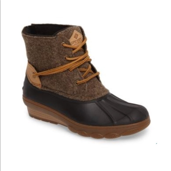 0ddd739eff83 Sperry Saltwater Wedge Tide Wool Blend Boot NWOT. M 5b8ddf70d365be64b9b64a80